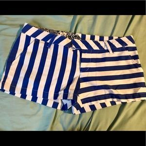 Volcom Blue and White Frochickie Shorts Sz 7